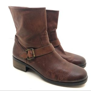 Paul Green dark brown side zip leather ankle boots